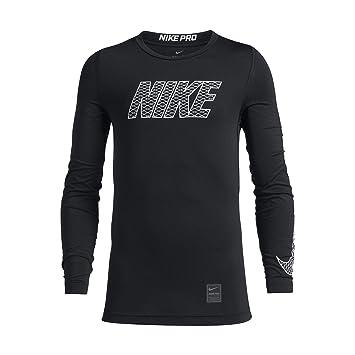 2d3c27b36ed Nike Niños Pro Top Crew LS Camiseta de Compresión  Amazon.es  Deportes y aire  libre