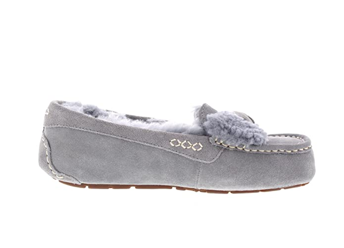 b31e5cfa9ba UGG Women's Ansley Fur Bow Geyser Loafer: Amazon.ca: Shoes & Handbags