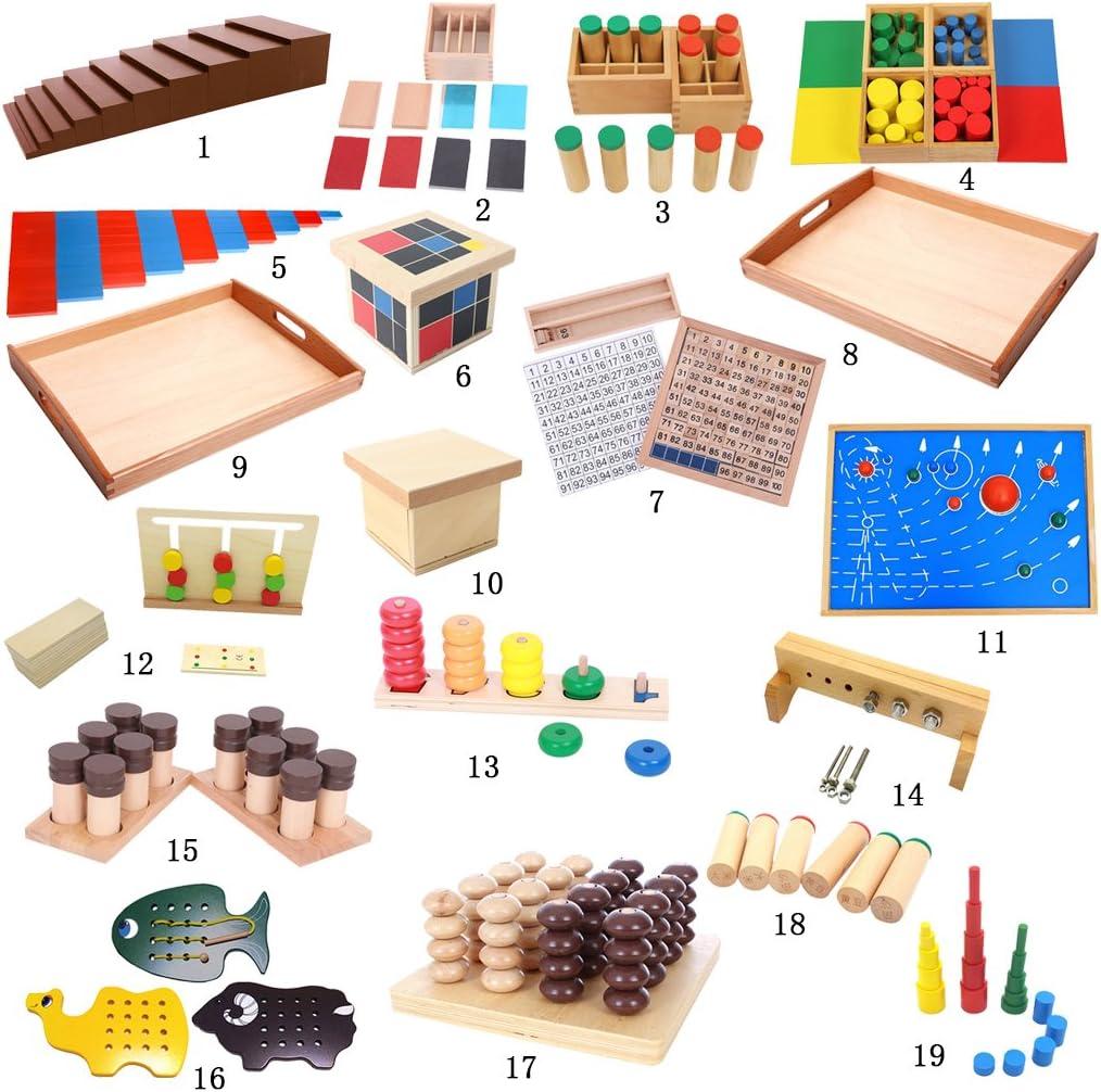 B Blesiya Marrón De Madera / Amplia Escalera De Equipos Montessori Ejercicio Sensorial Conjunto De La Familia: Amazon.es: Juguetes y juegos