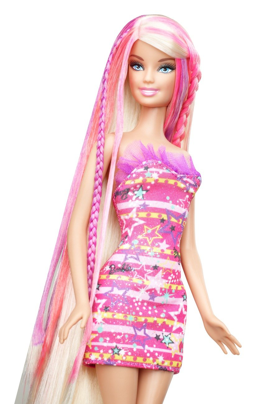 Buy Mattel X2345 Barbie Hairtastic Color And Design Salon Barbie