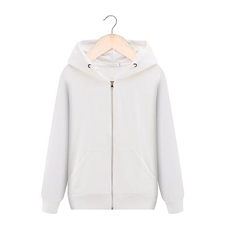Malilove Solid Hoodie Mujeres Leisure Sport Coat Batas De Algodã³n Suelto XL