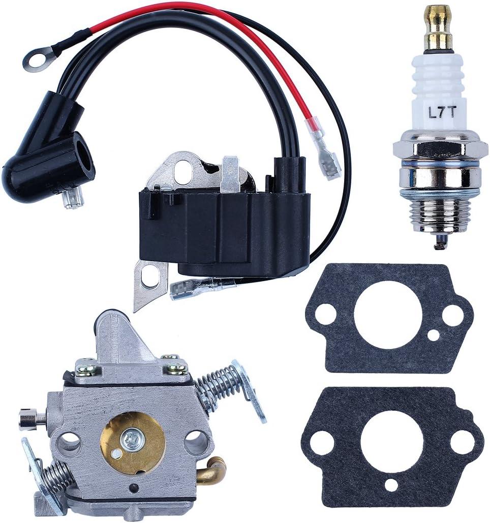 Haishine Kit de carburador de carburador de bujía de Bobina de Encendido de para STIHL 017 018 MS170 MS180 MS 170 180 Repuestos de Motosierra
