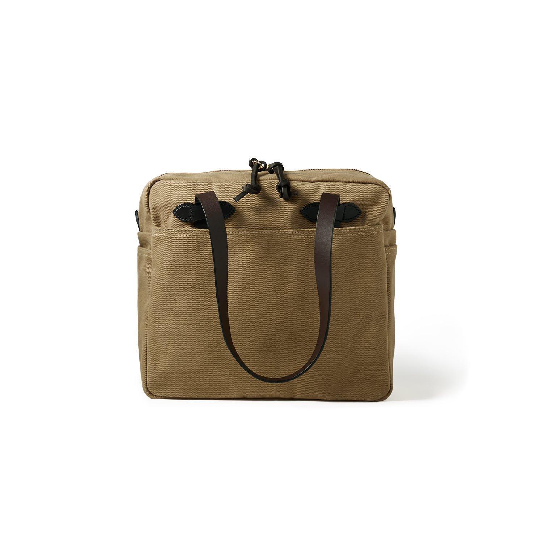 Filson Tote Bag with Zipper, Tan
