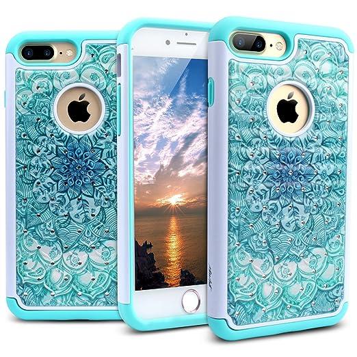 1 opinioni per Custodia iPhone 7 Plus, Miss Arts [Serie Cristallo] Cover Posteriore Antiurto