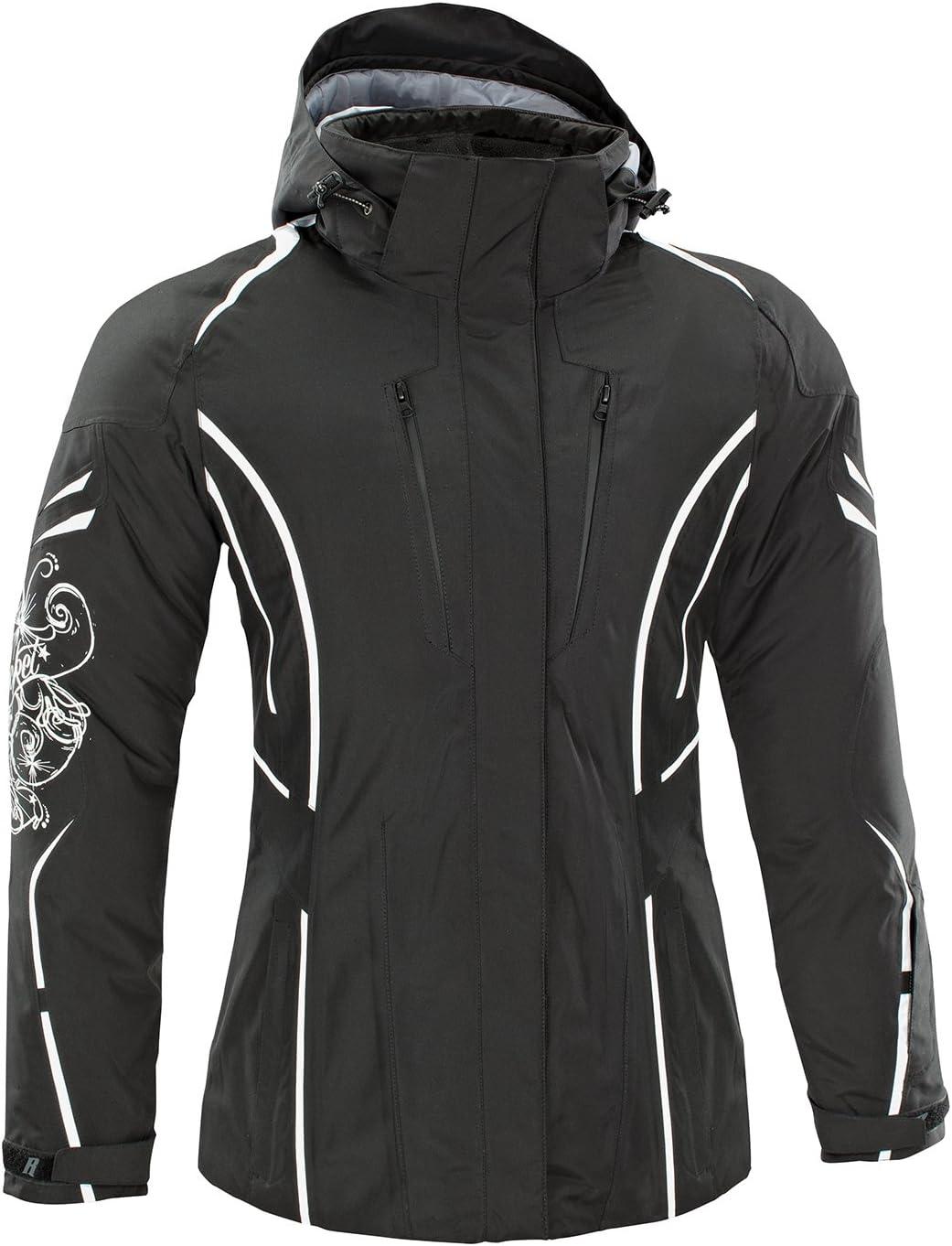 Joe Rocket Womens Black//White Rocket Crew Windproof /& Water Resistant Jacket