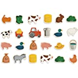 Janod J08157 - Magnets Bois Ferme - 24 Pcs