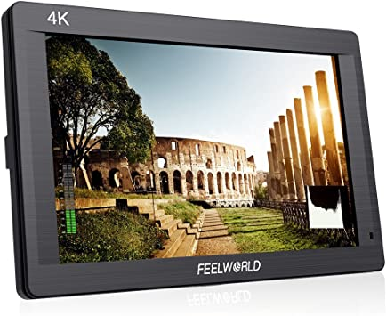 FEEL-WORLD FH7 7 4K On-Camera Monitor with HDMI Input//Output IPS Full HD 1920x1200 with F550 Battery and Charger
