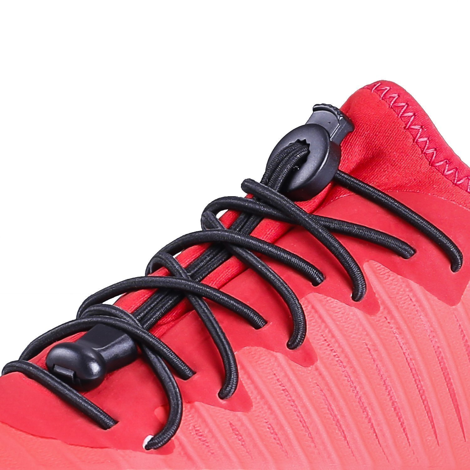 1 Pair Reflective One Pair Elastic No Tie Shoe Laces Lock Lace for Sneakers