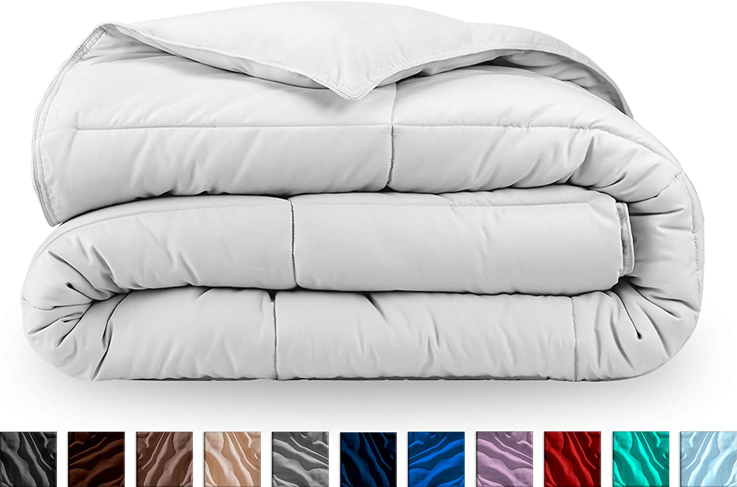 Bare Home Kids Comforter/Duvet Insert - Twin/Twin Extra Long - Goose Down Alternative - Ultra-Soft - Premium 1800 Series - Hypoallergenic - All Season Breathable Warmth (Twin/Twin XL, White)