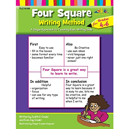 four square writing method grades 1-3 a unique approach to teaching basic writing skills