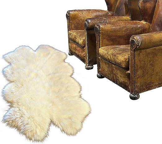 Off White Luxury Faux Fur Shaggy Shag Sheepskin Area Rug Quatro All Sizes