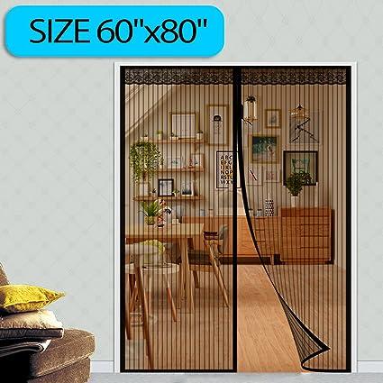 Magnetic Screen Door Fit Door 60w X 80h Full Frame Velcro