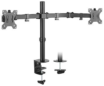 RICOO Support PC pour 2 ecrans TS6711 Double Bras orientable inclinable TV  sur Pied Meuble de ea7a4d41077e