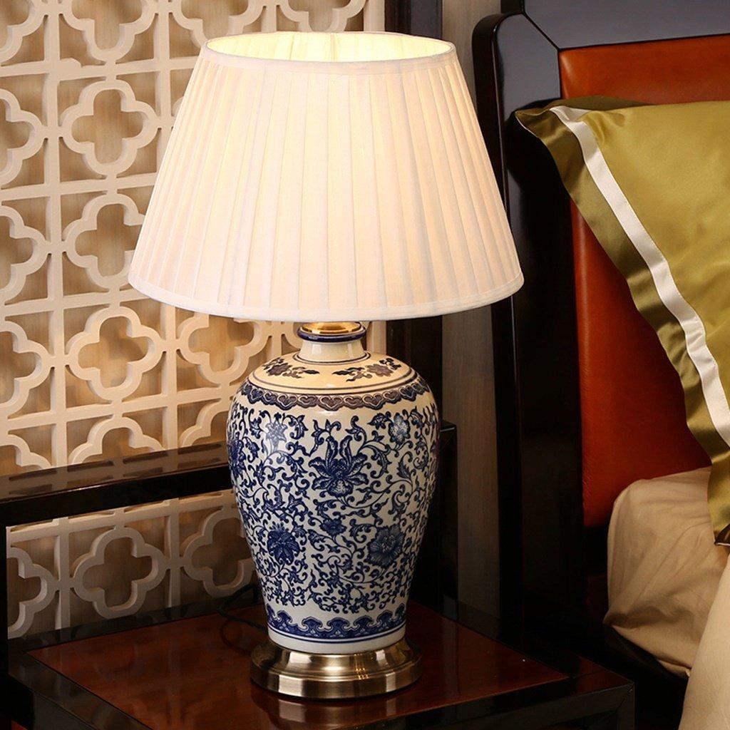 De Lampes Porcelaine Et Blanche Chose Céramique Hotel Chevet Décoratives Club Creative Bleue Chambre Bonne Lampe Table iZuPkX