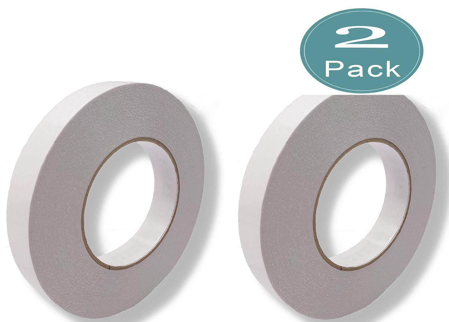 YCWEI Double Sided Adhesive Tape Thin 3/4 Inch 55 Yards Photos/File/Wallpaper and for Scrapbooking, Card Making, Gift Wrapping White 2PCS