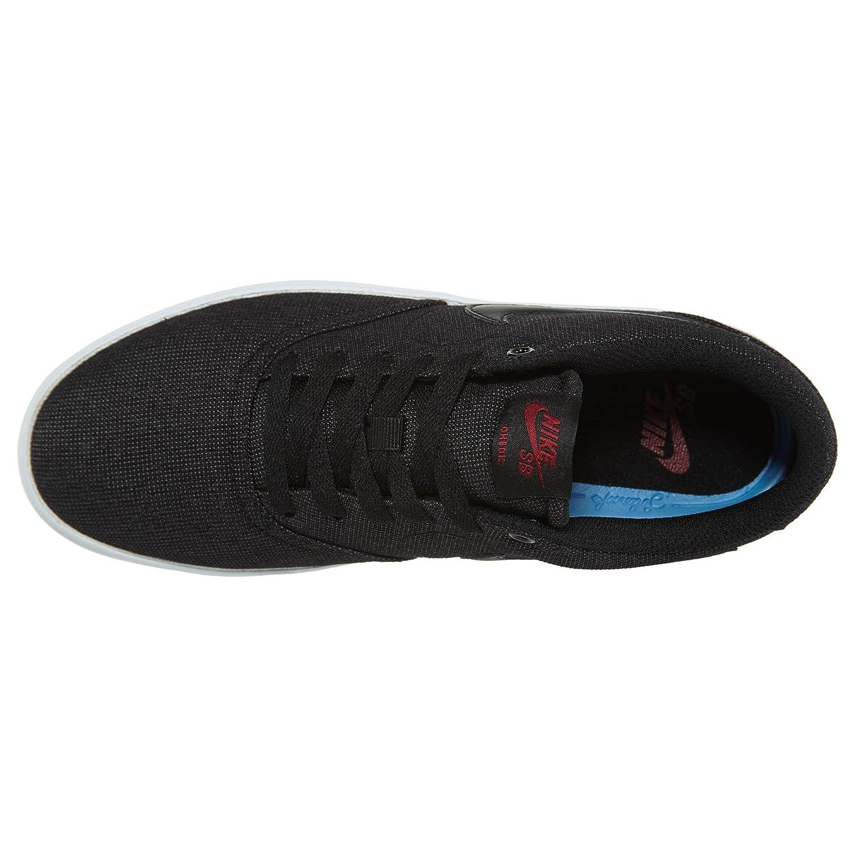 NIKE Men's SB Check Solarsoft Canvas Skateboarding Shoe B01K3PJKPM 10.5 D(M) US|Black Black Team Red