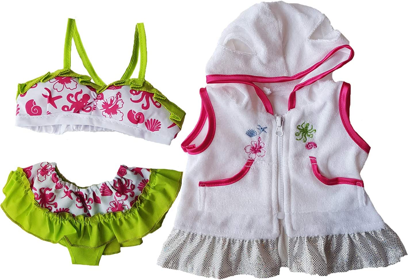 Swimsuit & Coverup Outfit Teddy Bear Clothes Fits Most 14