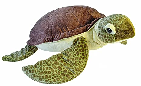Amazon Com Wild Republic Jumbo Sea Turtle Plush Giant Stuffed