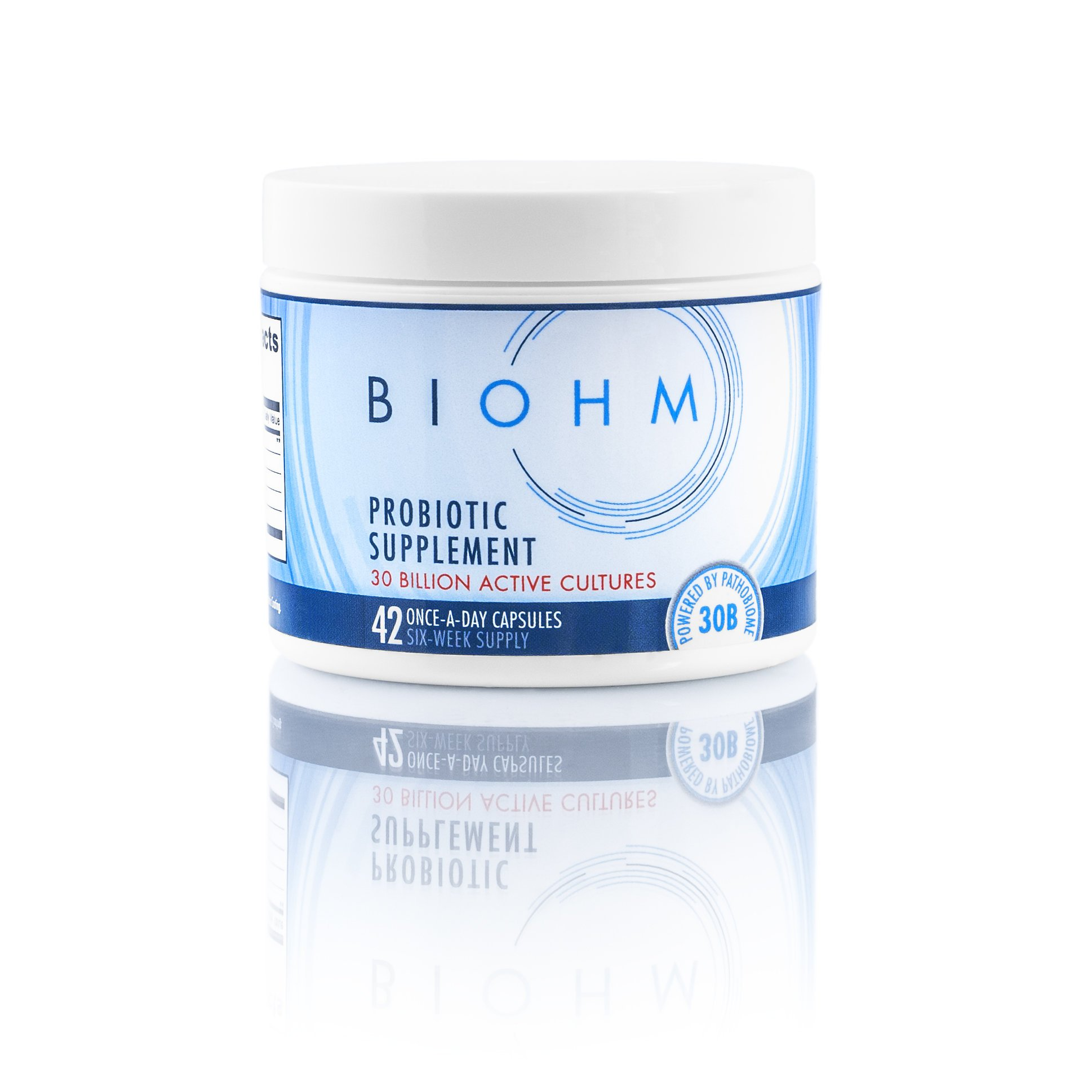 BIOHM Whole Probiotics Digestive Supplement: Probiotic Formula with Bacteria, Fungus, and Enzymes to Aid Digestion for Men & Women - Best for Healthy Intestine & GI Enhancement: Dairy free 42 Capsules