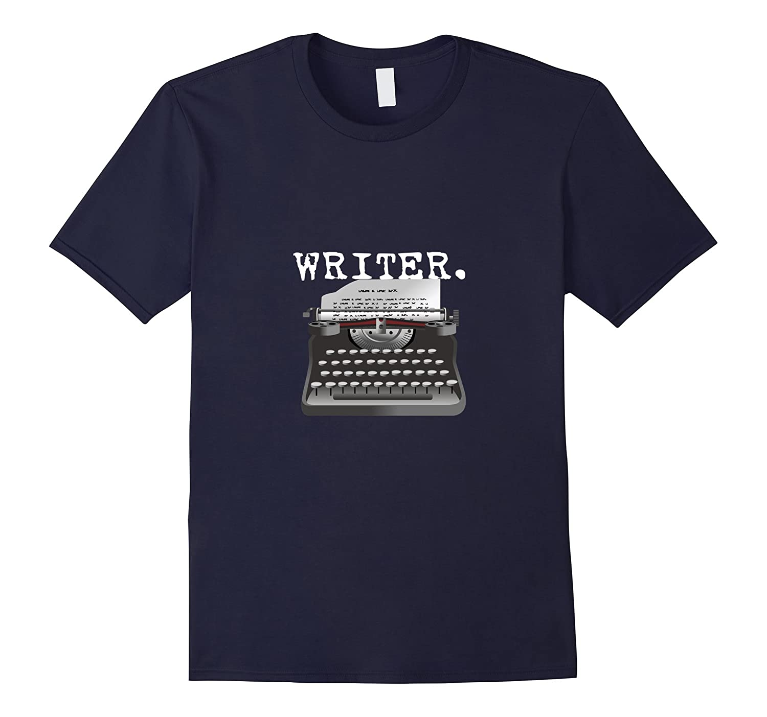 Writer T-Shirt, Author Vintage Retro Typewriter Tee, 300ppi-BN