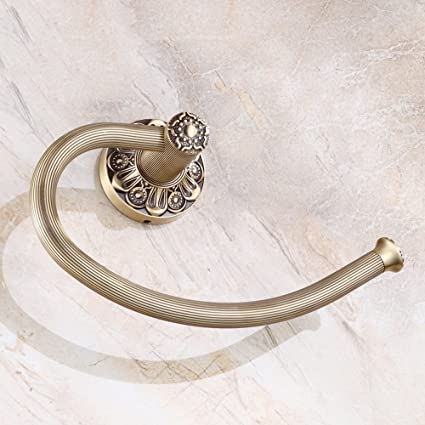 Muebles - YUE Anillo de Toalla de Cobre Antiguo Europeo montado en la Pared Bronce forjador