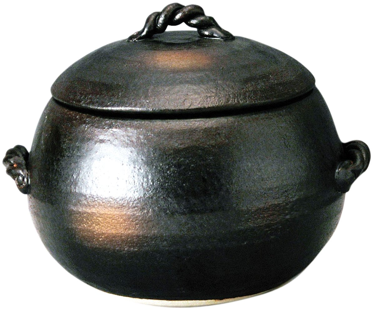 Yorozufuru-sho rice pot - 3 people cook Iga wind M4806