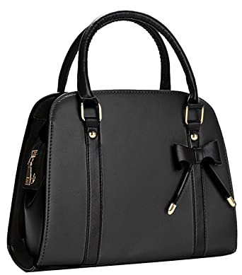 9536e72ff690 COOFIT Lady Handbag Little Bow Leisure Top-Handle Bags Shoulder Bag Purse ( Black)