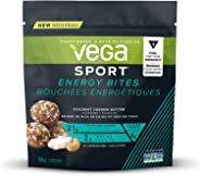 Vega Sport Energy Bites, Coconut Cashew Butter (4 Servings, 160g) - Vegan Plant Based Workout Fuel with MCT Oil, Dates, Oats