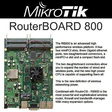 Amazon com : Mikrotik RB800 RouterBOARD 800MHz 256MB RAM 4 MiniPCI