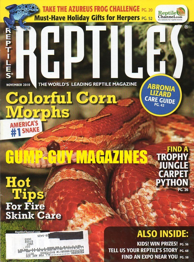 Reptiles November 2010 The World's Leading Reptile Magazine