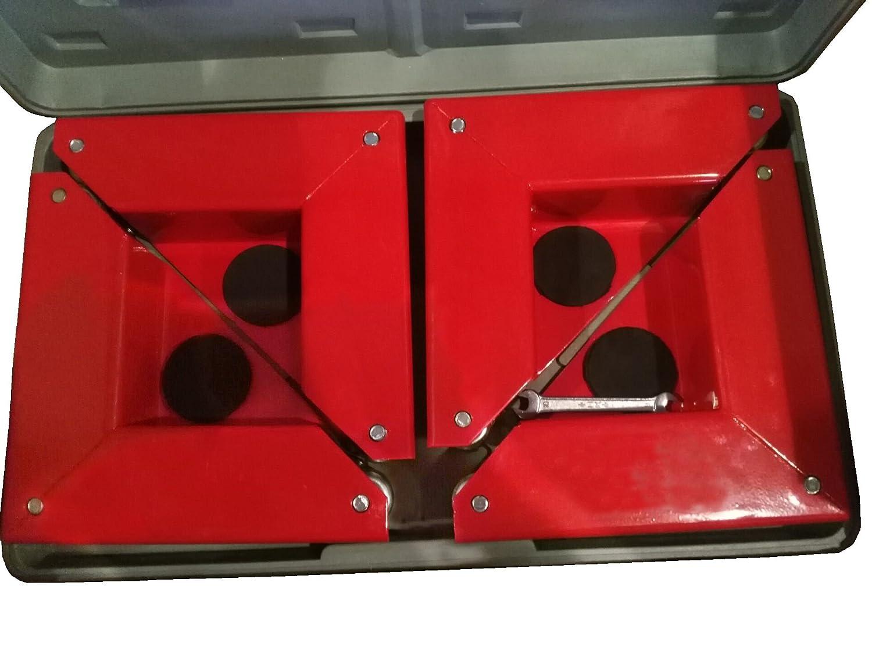 avec charge maximale de 150/kg COR-150 Lot de 4/fixations de roues dangle pour transport de charges sans roues T-EQUIP Rouge