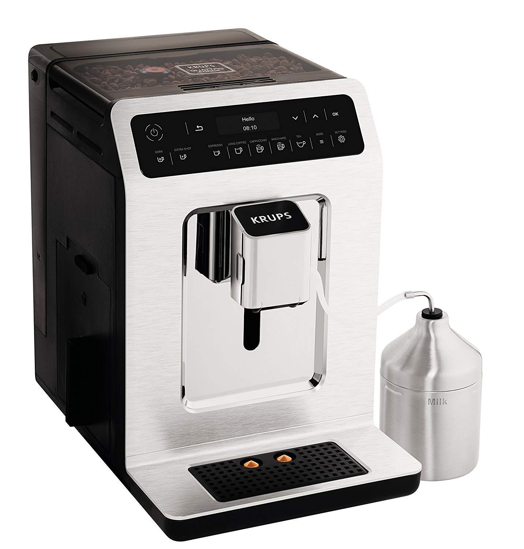 Krups Evidence EA891C Independiente Totalmente automática Máquina espresso 2.3L 2tazas Cromo, Metálico - Cafetera (Independiente, Máquina espresso, ...