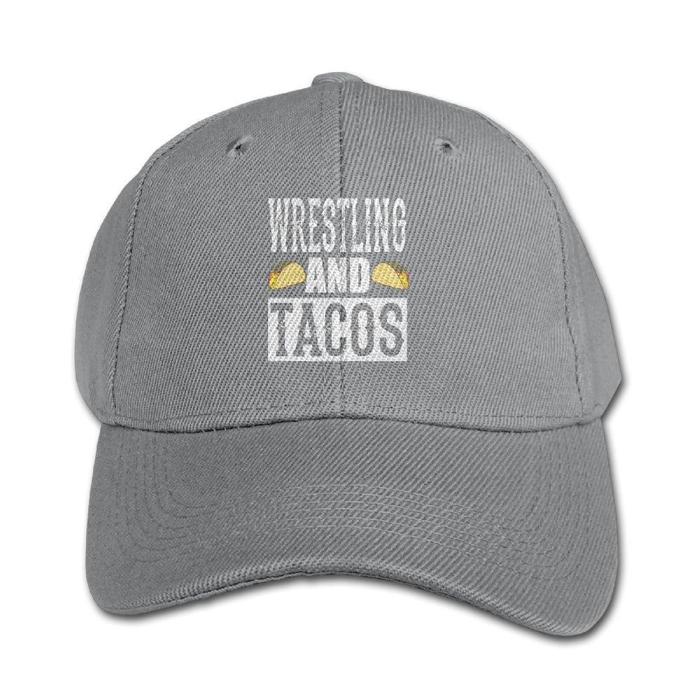Haibaba Wrestling and Tacos Boys and Girls Black Baseball Caps Solid Hats