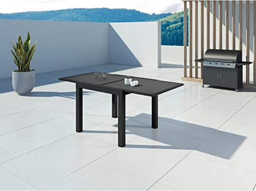 IMS GARDEN Hara Extensible aluminium-90/180cm-6 Places Table ...