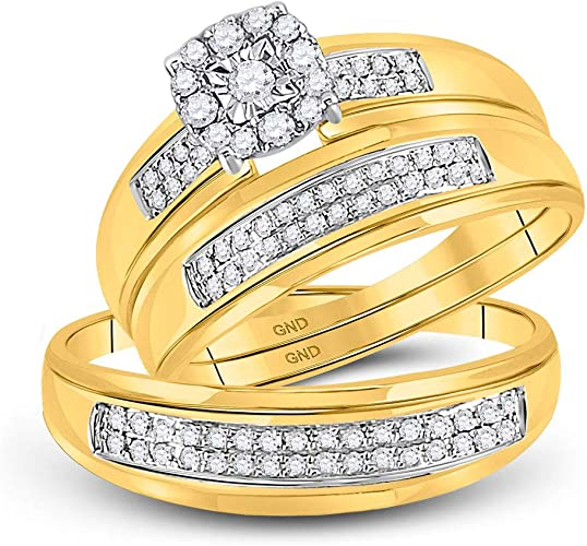 G-H,I2-I3 1//10 cttw, Size-10 Diamond Wedding Band in 10K Yellow Gold