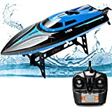 25km/h High Speed RC Boat Cool Blue Speedboat Professional 2.4GHz Remote Control Rechargeable Electric Toy Boat 4CH RC…