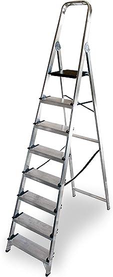 ALTIPESA - Escalera Doméstica de Aluminio, Peldaño 12 cm. (8 peldaños): Amazon.es: Bricolaje y herramientas