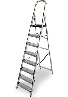 Hailo xxl easyclix - Escalera domestica xxl 7 peldaños 212cm aluminio: Amazon.es: Bricolaje y herramientas