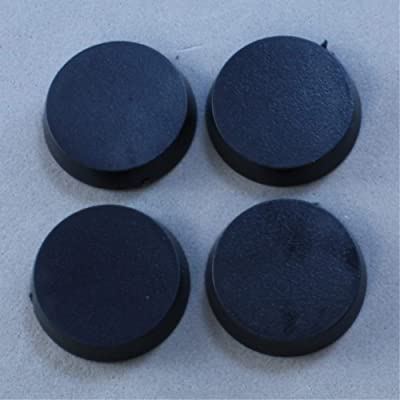 20mm Round Flat Top Base (Pack of 25) 74041: Toys & Games