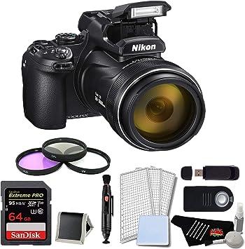 negro para Nikon Coolpix P1000 Bolsa con apertura de batería