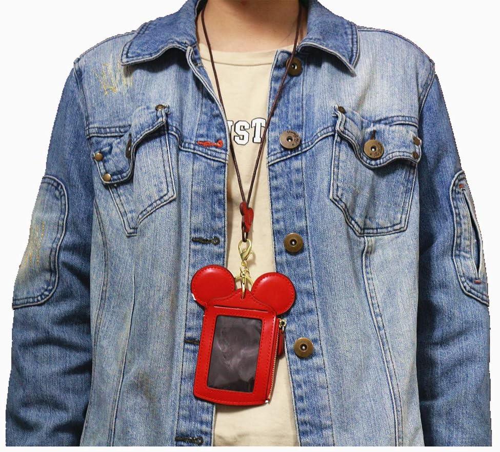 TNEW Pochette Tour De Cou Forme Animale Mignon pour Les Femmes Rouge Neck Pouch Titulaire de la Carte Protection Contre Wallet Purse Neck Bag Documents de Voyage