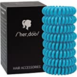 Sports Hair Ties - Ideal for Extended All Day Wear with No Crease, No Damage, No Pulling. Great Gift for Swimmers, Workout Enthusiasts & Anyone Wearing a Ponytail for a Long Time - 8 Pack