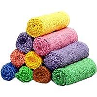 """Weavers Villa Set of 10 Cotton Face Towels [Size: 12"""" X 12""""]"""