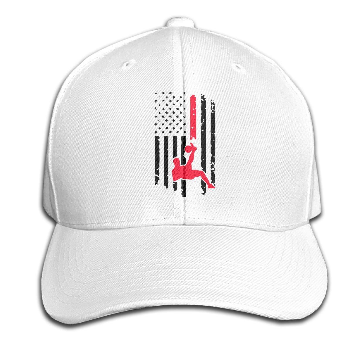 TAOHJS106 Soccer American Flag Unisex Baseball Cap Adjustable Plain Hat for Women Men