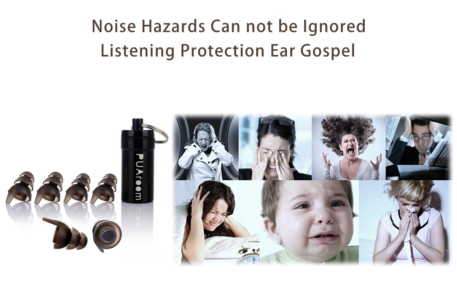 79ac9f2d7accf3 Amazon.com  PUAroom FamilyPro High Fidelity Ear plugs Noise Cancelling Hearing  Protection with 23dB NRR For Concerts Musicians Motorcycles With Different  ...
