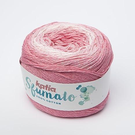 Katia esfumado Fb. 70 – Color Rosa/Coral, degradado hilo, paños lana