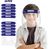 10 Pack Kids Anti-Fog Face Shields 8 Pack Safety Shield with Elastic Band For Children (Blue)
