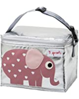 3 Sprouts Lunch Bag, Elephant, Pink