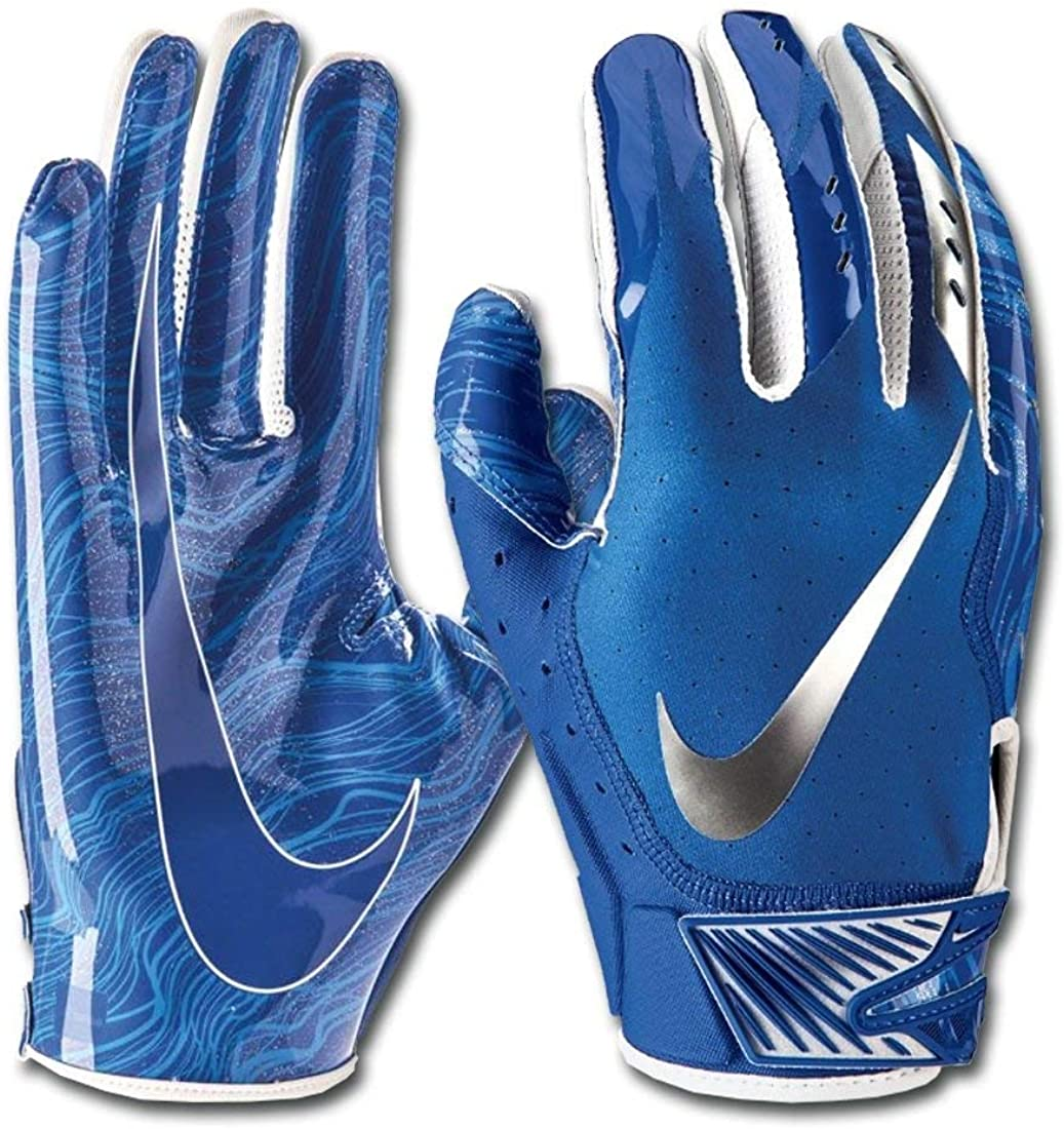 Nike Men's Vapor Jet 5.0 Football Gloves Game Royal/Chrome