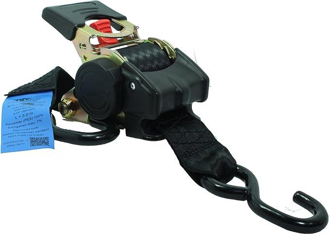 4x Automatik Spanngurt Zurrgurt Ladungssicherungsgurt Ratschengurt Mit Automatischer Aufrollfunktion 3 0 Meter 1500 Kg 1 5t S Haken Baumarkt